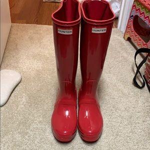 NWT HUNTER red rain boots